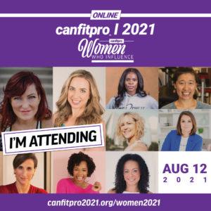 canfitpro Women Who Influence event promotional image